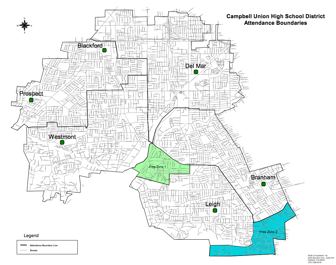 District Boundaries – Schools – Campbell Union High School District
