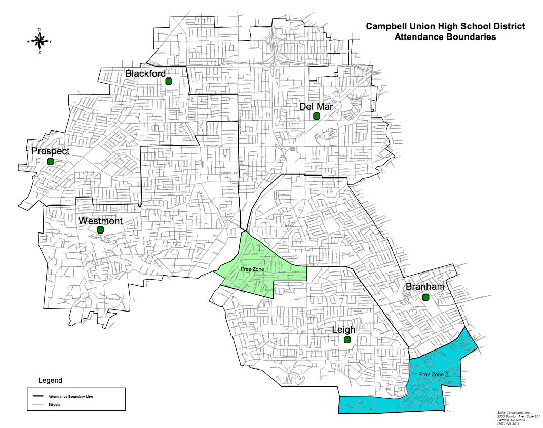 District Boundaries Schools Campbell Union High School District